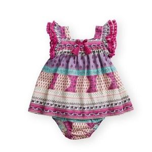 Jessica Simpson NEW NWT Pink Purple Teal Dress 0-3